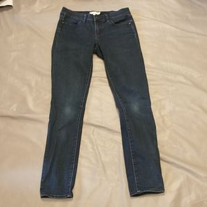 Tory burch dark wash legging jeans